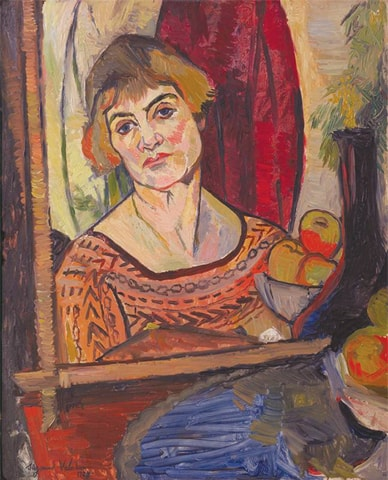 A self-portrait dated 1927; Valadon died a decade later in 1938 | Public Domain