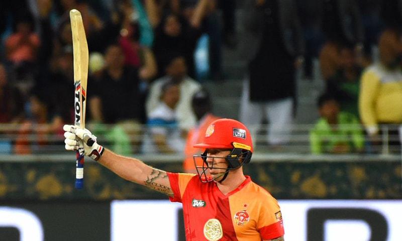 Ronchi raises his bat — PSL