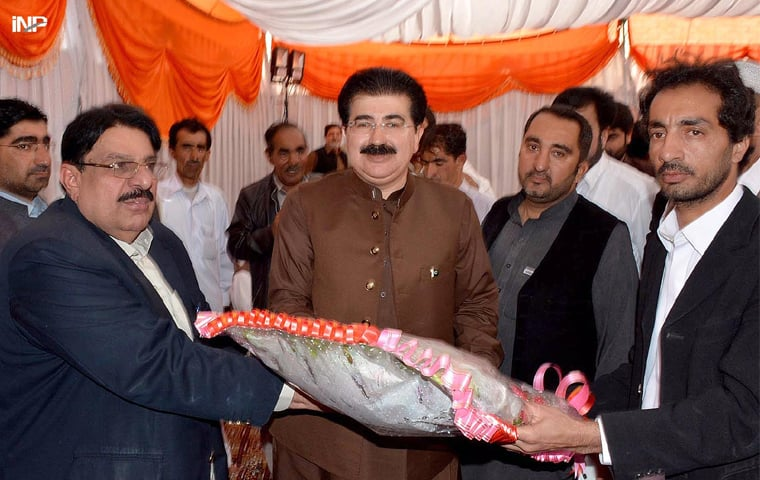 Mir Sadiq Sanjrani says the six independent senators and 32 MPAs from Balochistan will contest the next elections as a group.—INP