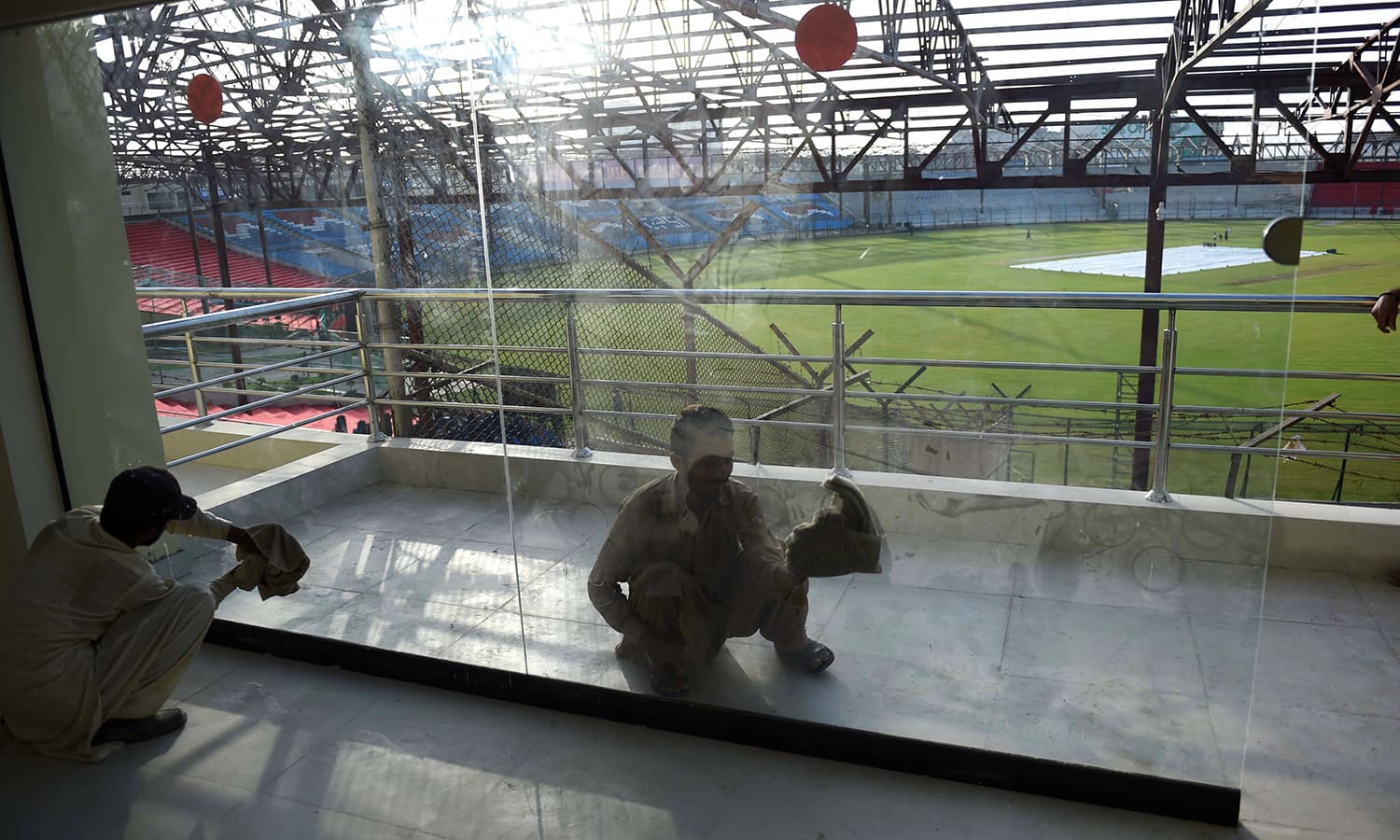 Image result for cricket stadium cleaning