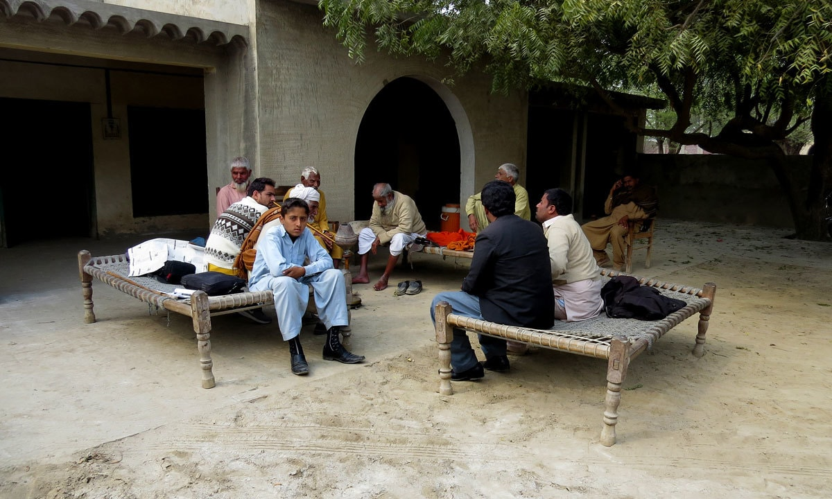 A political gathering in Jahan Khan