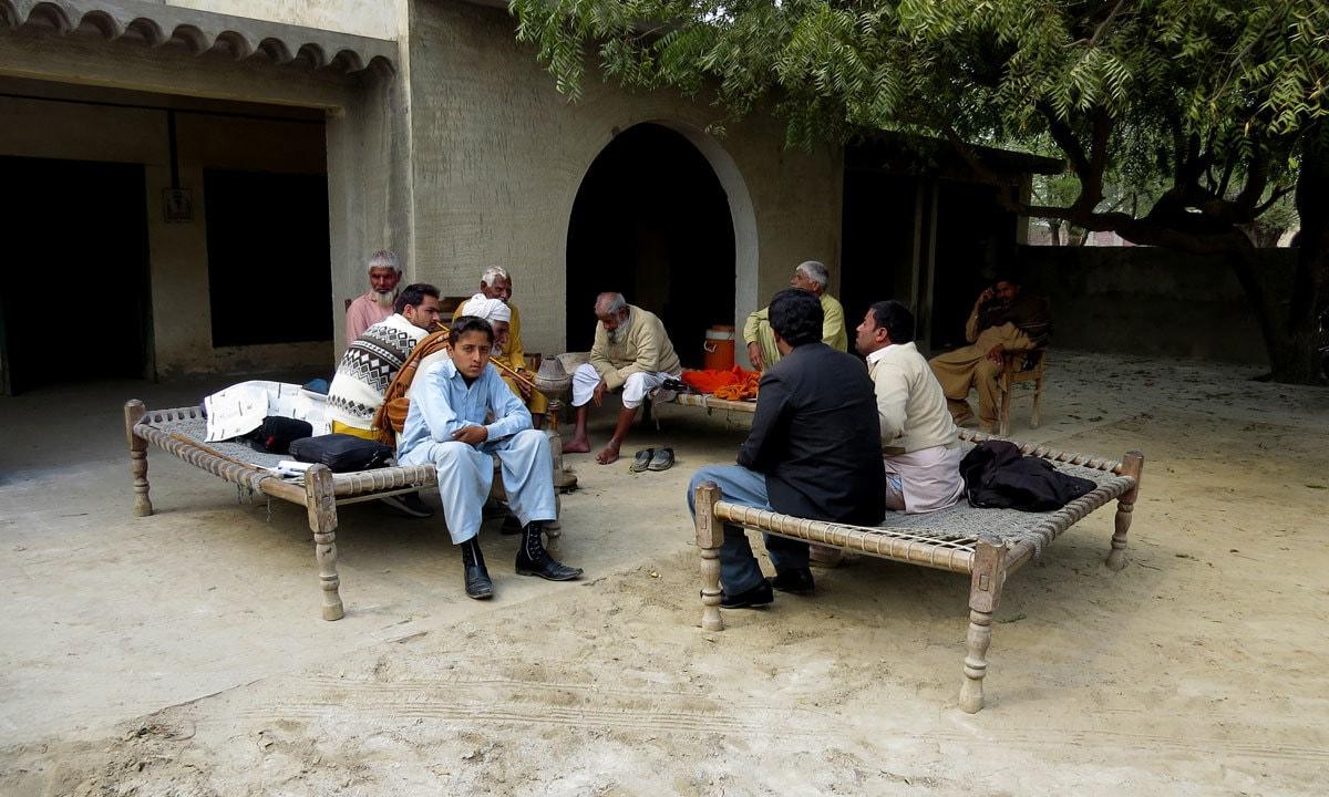 A political gathering in Jahan Khan