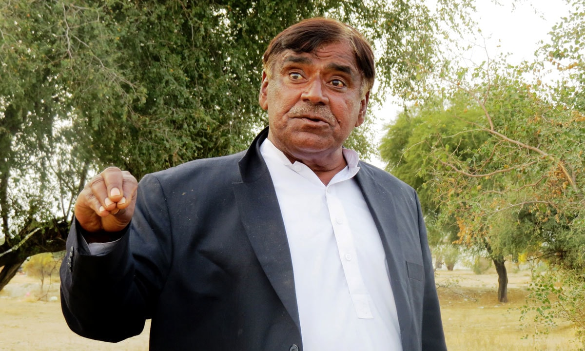 Sher Afzal, Dhurnal's only publically elected representative associated with  PTI