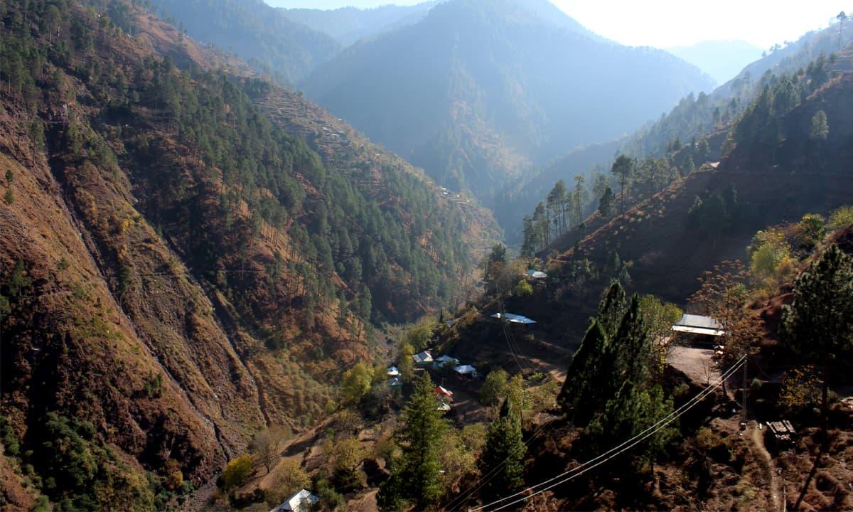 Depleted green cover on a hillside in Kashmir | Danyal Adam Khan