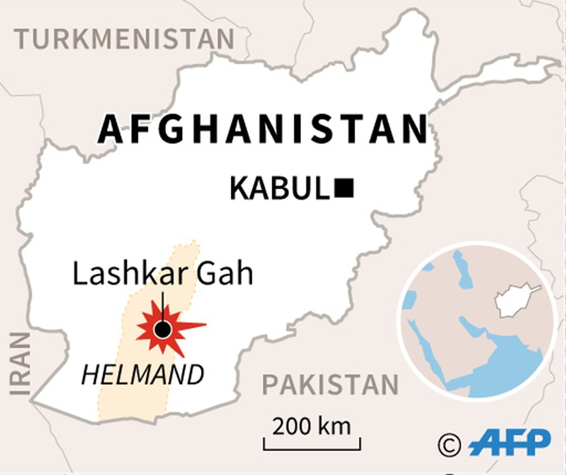 Lashkar Gah is a city in southern Afghanistan and the capital of Helmand Province. ─AP
