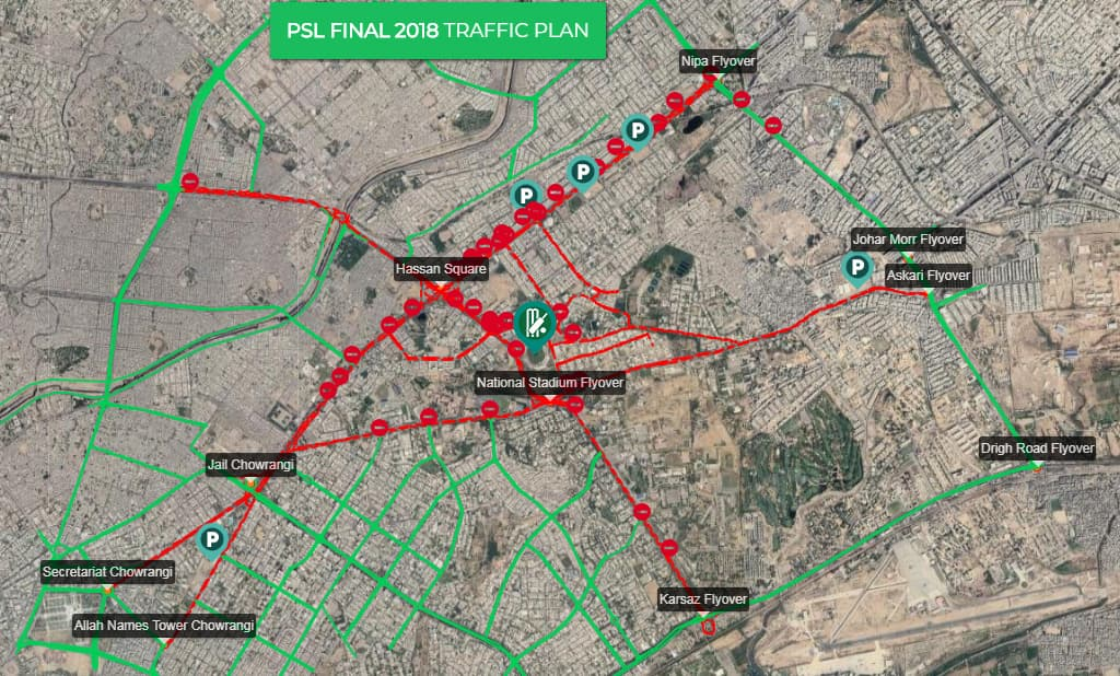 National Traffic Map.Psl Final Confused About How To Get To Karachi S National Stadium