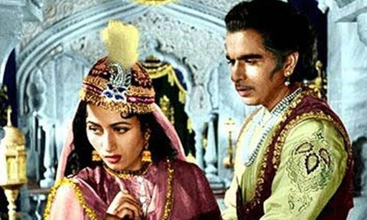 A scene from the film *Mughal-e-Azam*