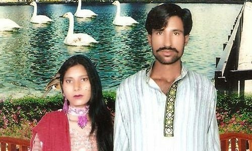 This undated family handout photo shows the Christian couple who were killed by a lynch mob in Kot Radha Kishan ─ AFP/File