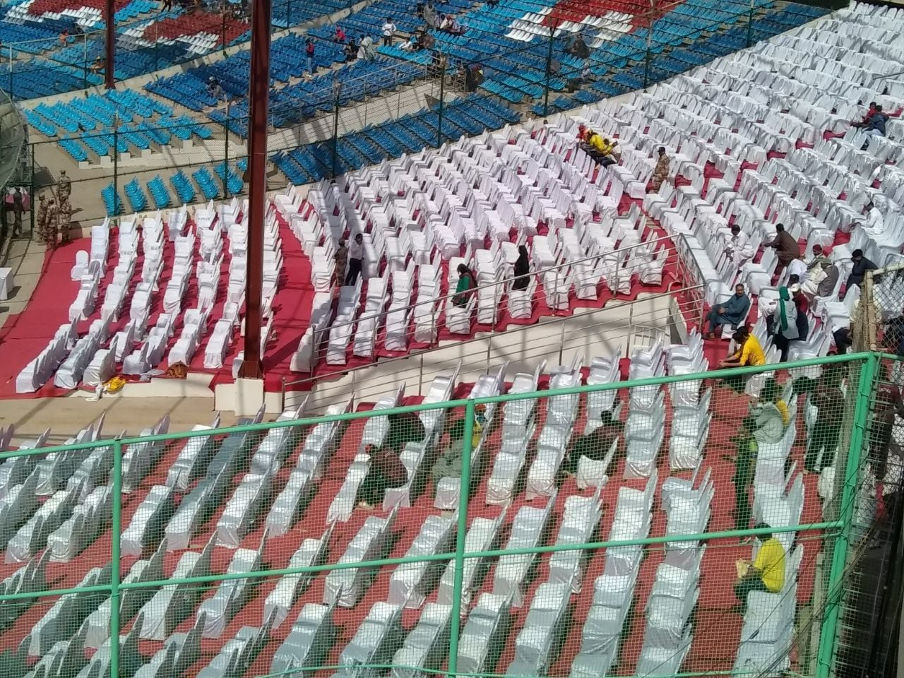 A view of the stands before the start of the PSL final. — Zeeshan Ahmed