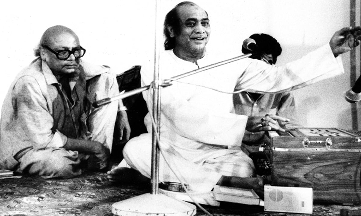 Habib Jalib with Mehdi Hasan