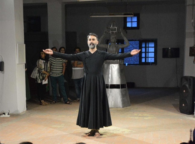 Performance art by Rehan Bashir