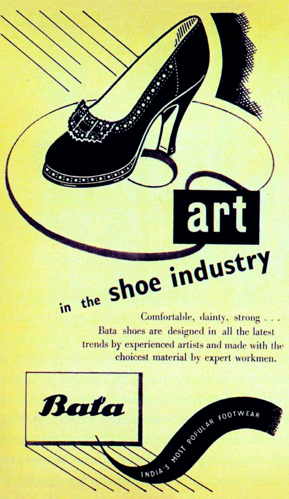 An ad for Bata Shoes, published in Art in Industry, Vol.1, No.4, 1947. (Courtesy: Visual Archives)