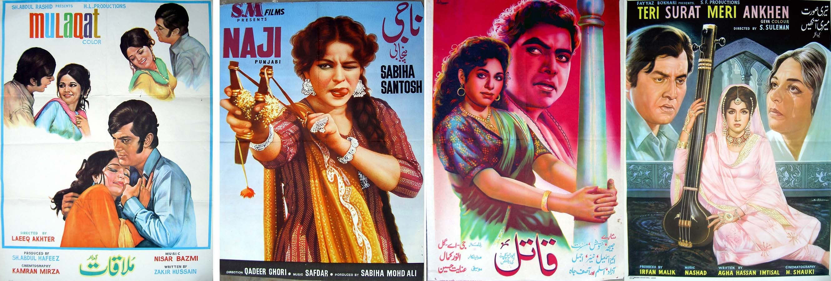 During the sixties and seventies, often dubbed the 'golden age' of Pakistani cinema, hand-painted film posters were the most popular form of promotion. This was at a time when the industry released more than a 100 films annually, making it one of the largest in the world. As the fortunes of the industry took a turn for the worse, the art of hand-painting cinema posters also began to wane.