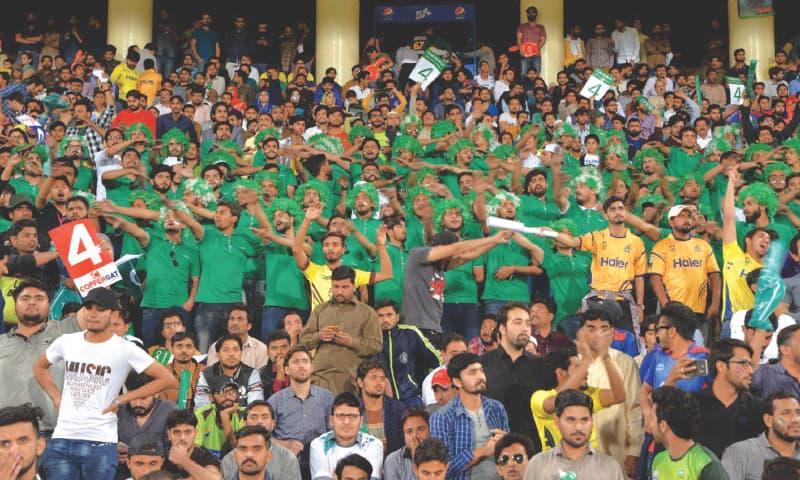 Cheering Pakistan along.