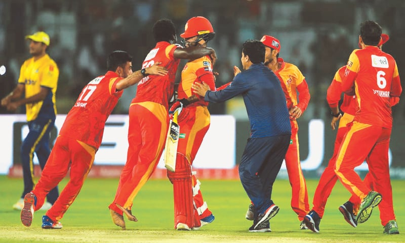 The moment of victory for Islamabad United