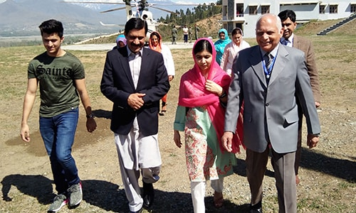 Nobel Prize Winner Malala Visits Hometown In Pakistan
