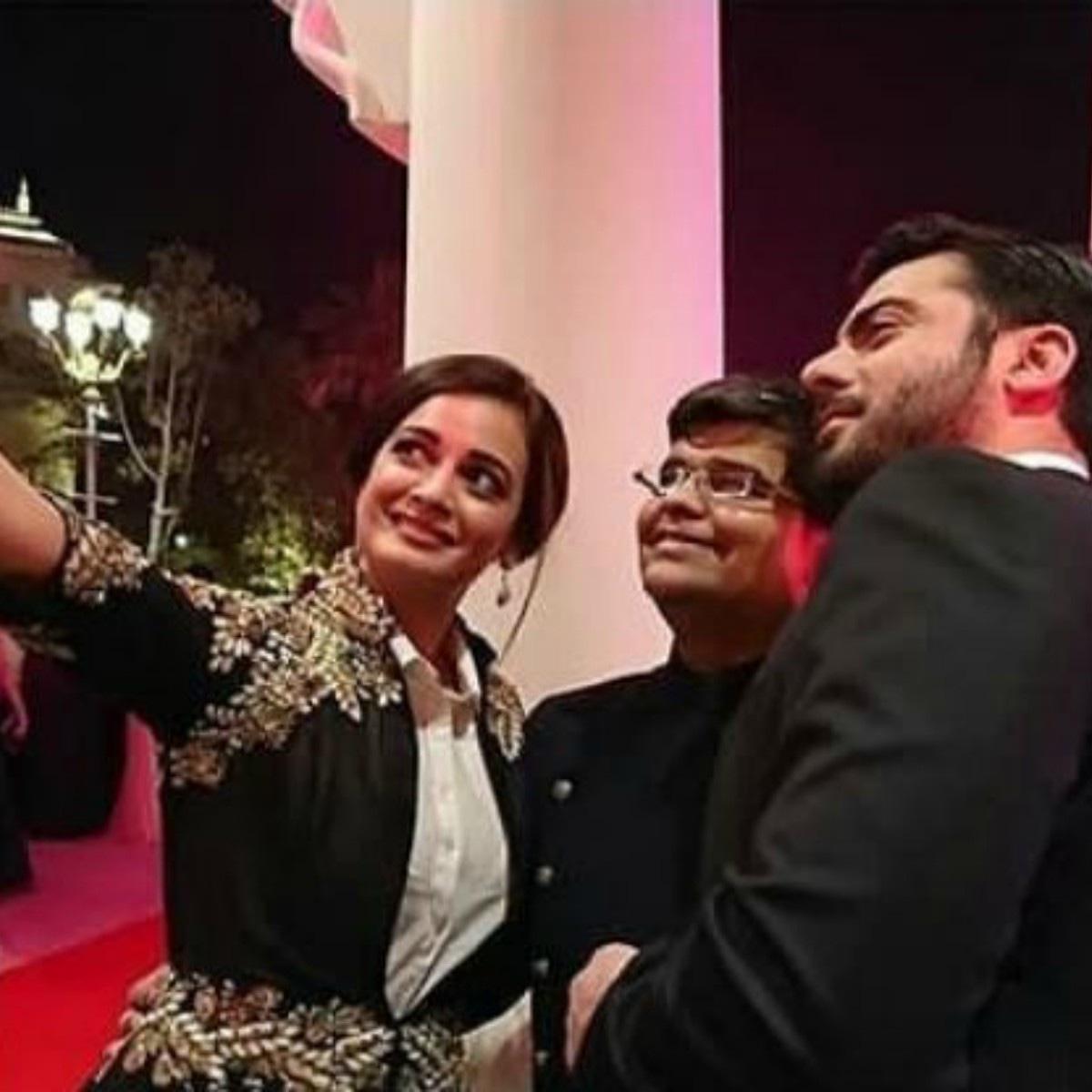 Dia Mirza snaps a selfie with Fawad Khan and Filmfare editor Jitesh Pillai