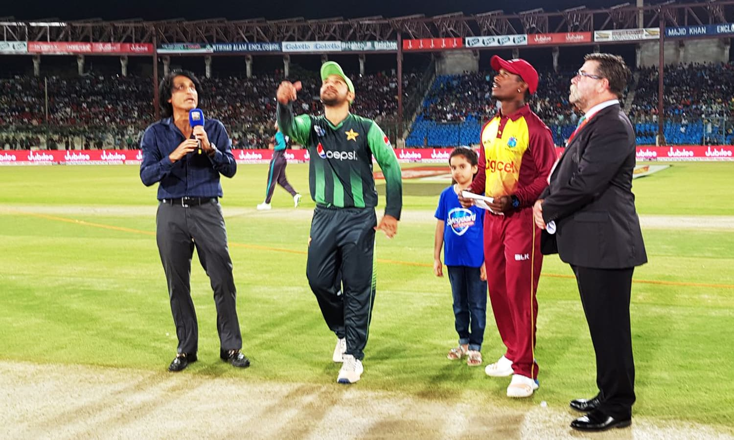 West Indies won the toss and chose to field.