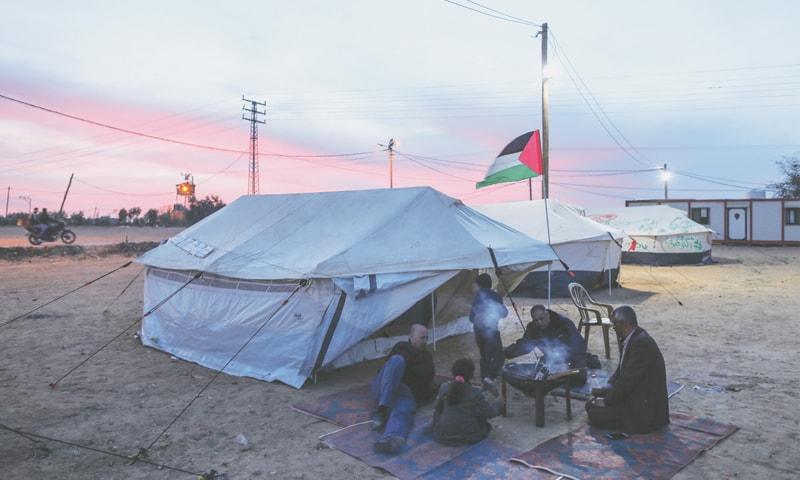 Yearning and camaraderie at Gaza camps
