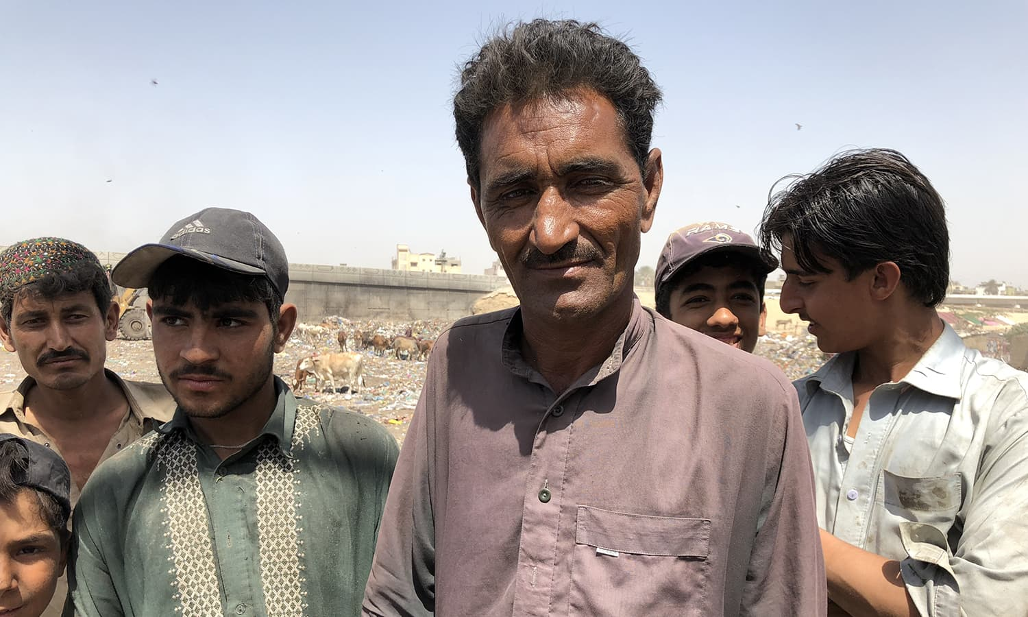 Kala Khan, an Afghan, belongs to Quetta, and says many Afghans are forced to work as scavangers as they cannot any other work. — Photo by author