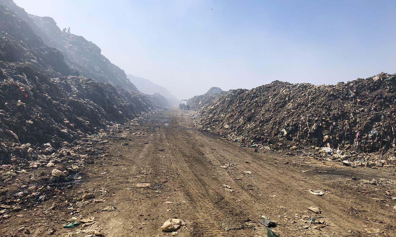 سندھ کے دارالحکومت کراچی میں اب 13 ہزار ٹن تک کچرا ہوتا ہے—فوٹو: ذوفین ابراہیم/ ڈان