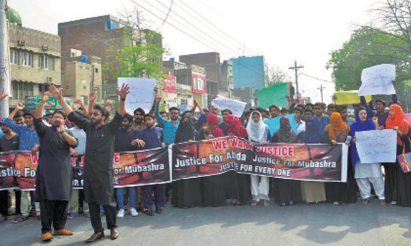 Rape-cum-murder of two girls: GCUF students stage demo against