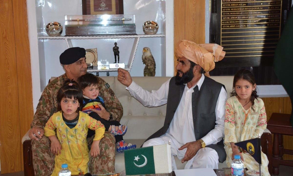 Gen Bajwa assures Naqeebullah's father of army's support in quest for justice