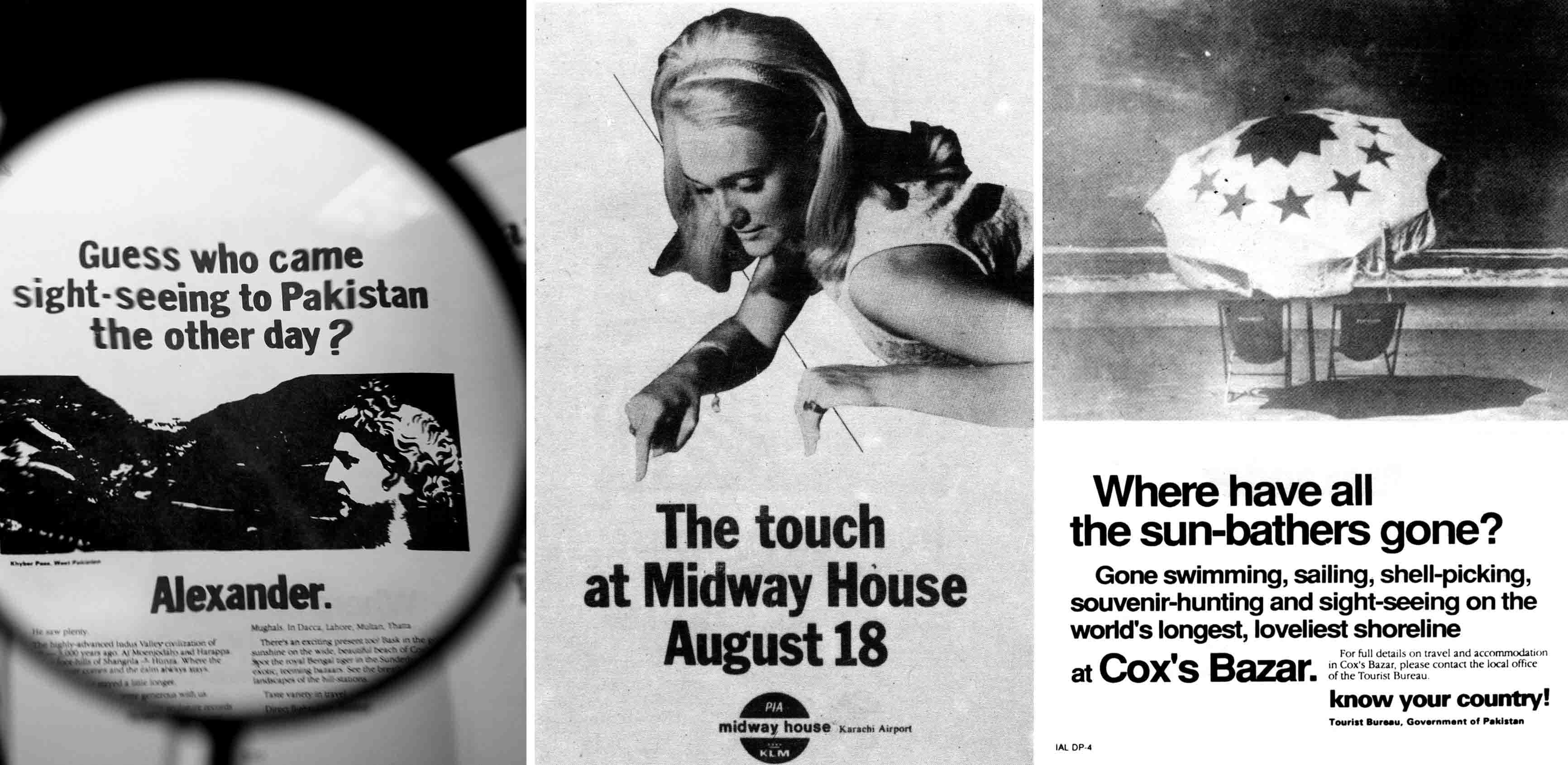 Advertisements for the Department of Tourism, Midway House (PIA & KLM's Airport Hotel), Cox's Bazar (located in Bangladesh and part of the 'Know your country campaign' for the Tourist Bureau) and Peek Freans have a single name in common: Javed Jabbar, co-founder MNJ Communications, one of the most influential agencies of the seventies and eighties.