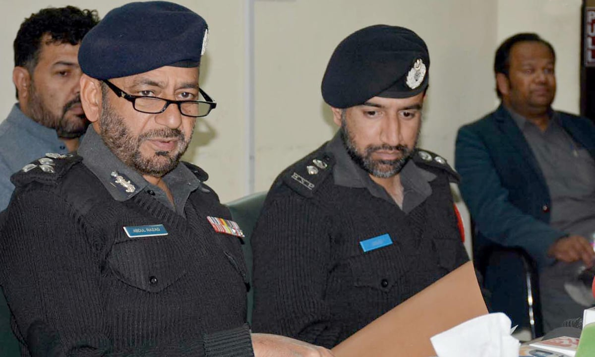DIG Quetta Abdul Razzak Cheema at a press conference | Adnan Ahmed, INP