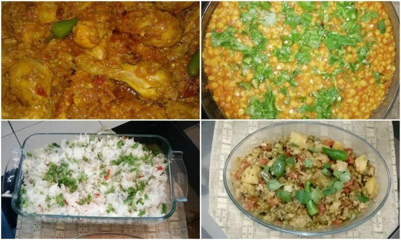 عبدالمعید کی فوڈ کمپنی کے بنائے گئے چند لذیذ کھانے۔ — فوٹو بشکریہ لکھاری