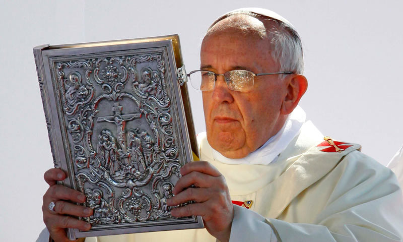 Pope puts the Devil in his place