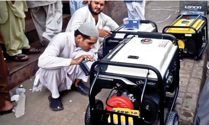 Loadshedding ignites generator sales in Karachi