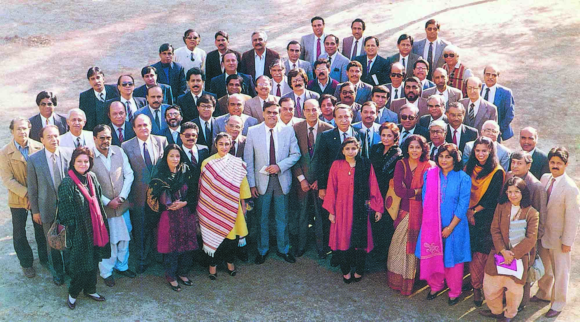 The Organising Committee of <em>AdAsia</em> 89 Pakistan. The 16th Asian Advertising Congress was organised in Lahore after Pakistan made a successful bid in Seoul in 1984 and won over Australia to host the event. Come 1989 and Pakistan played host to one of the most memorable AdAsias, despite the lack of conference and entertainment facilities. (photo: The Congress Handbook, AdAsia 89, and S.M. Shahid)