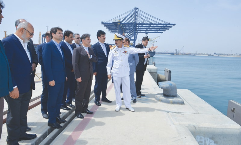 Karachi Port Trust Chairman Rear Admiral Jamil Akhtar on Friday is briefing an Iranian delegation about facilities and avenues available at the Deepwater Container Port for private investment.