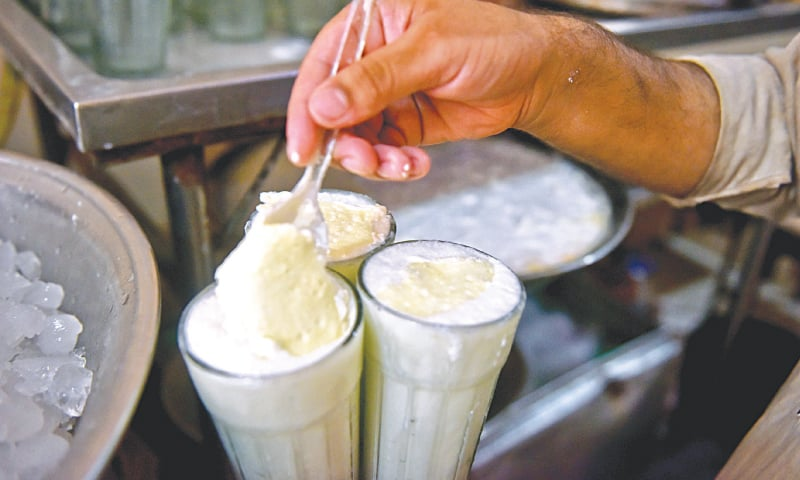 A dollop of cream on top of the lassi. / Photos by Fahim Siddiqi / White Star