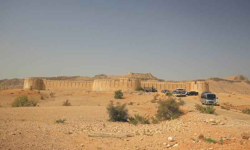 Miri, the central fort, with Shergarh seen on the skyline