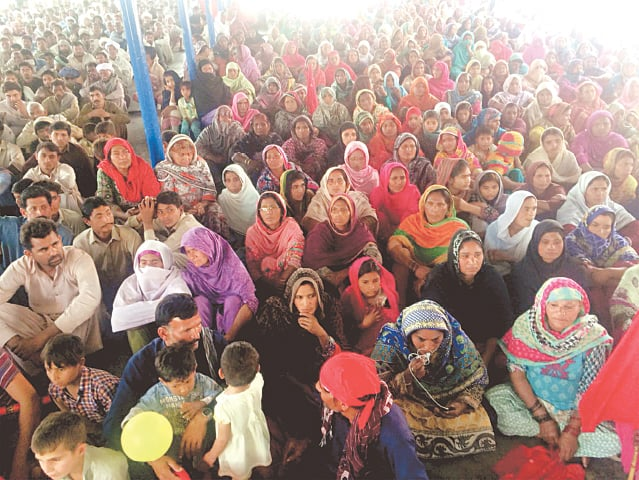 Despite the factionalism, AMP events have managed to attract thousands of landless peasants from across Punjab. Central to the movement's success has been the role that women have played as the first line of defence | AMP photos
