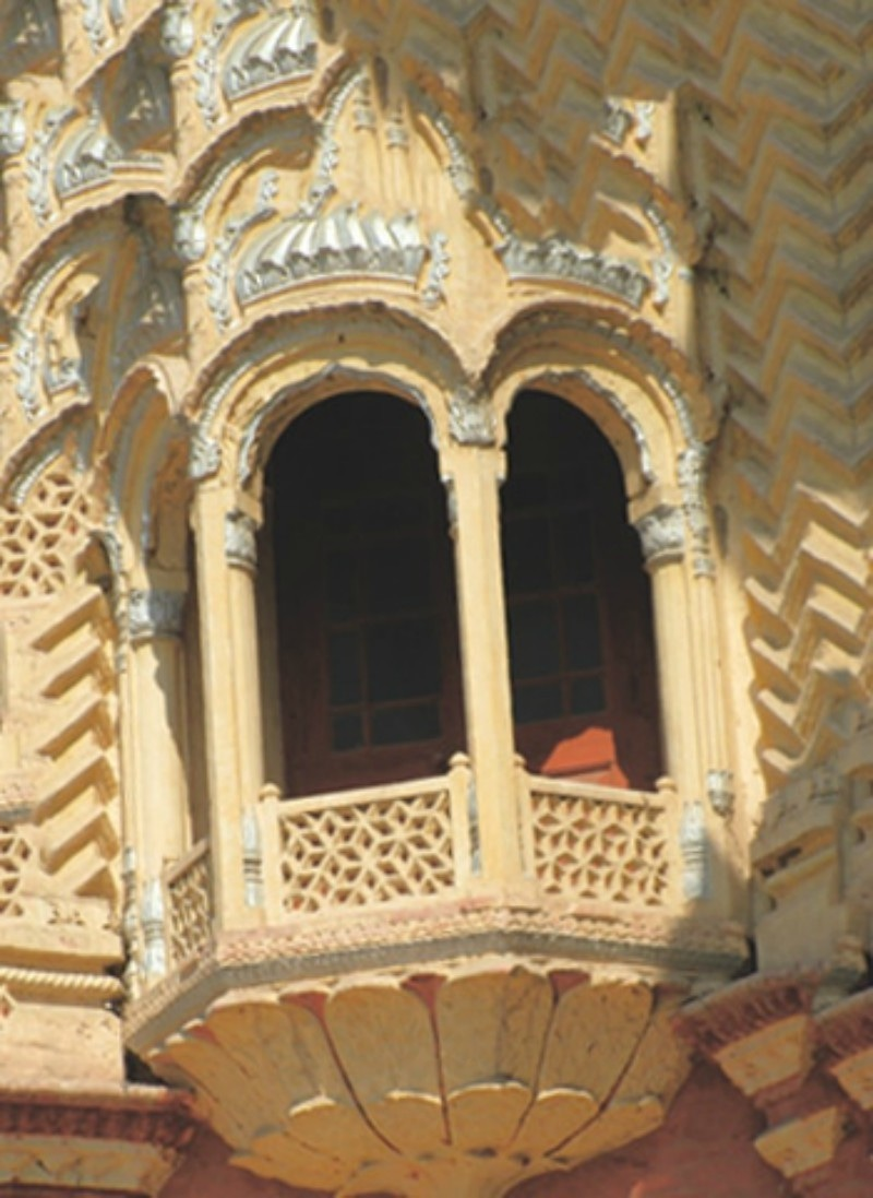 An intricately crafted balcony