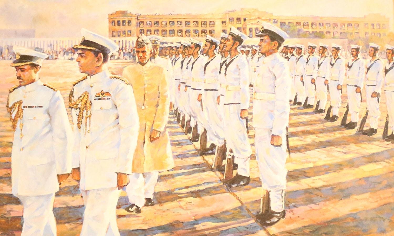 قیام پاکستان کے بعد  قائد اعظم کو سب سے پہلے نیوی نے گارڈ آف آنر پیش کیا تھا
