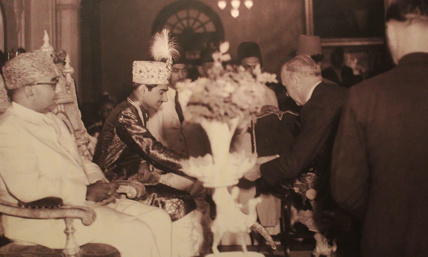 لیاقت علی خان کی فیض محل میں آمد—تصویر اختر حفیظ