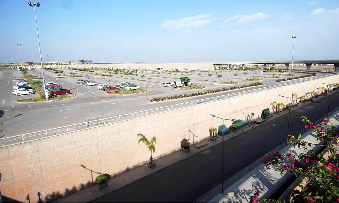 A view of the parking area of the airport, set to begin flight operations from May 3. — APP