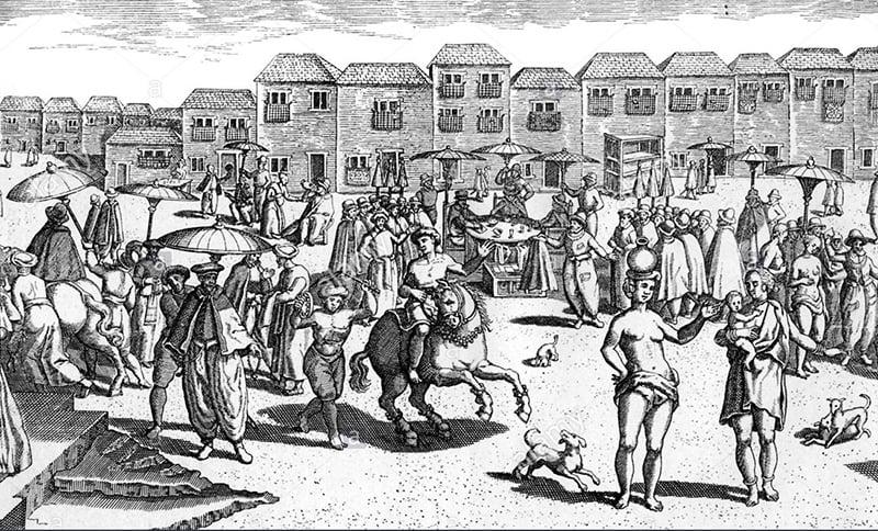 16ویں صدی میں پرتگالی دور میں گوا کی مارکیٹ۔