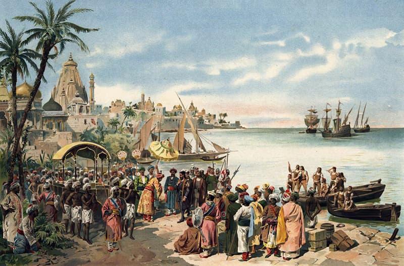 1498ء میں کالی کٹ پر واسکوڈے گاما کی آمد