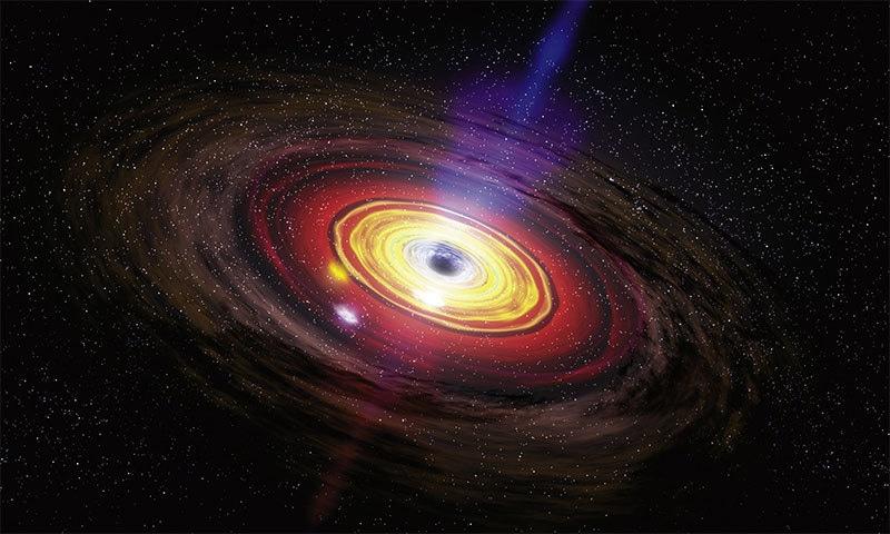 سپرمیسو بلیک ہول کا ایک خاکہ — فوٹو بشکریہ ناسا