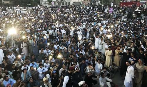 A view of PTM rally in Lahore. —Mohsin Dawar