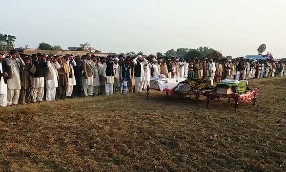 Funeral prayers of the youth killed in Turbat by Baloch insurgents in November 2017. — Waseem Ashraf Butt
