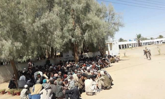 Afghan illegal migrants nabbed by the Frontier Corps. — Dawn