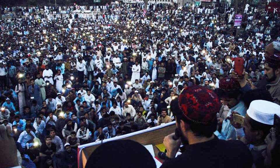 Manzoor Pashteen says the country has seen the result of their first demand, the arrest of former SSP Malir Rao Anwar. ——Khalid Mahmod