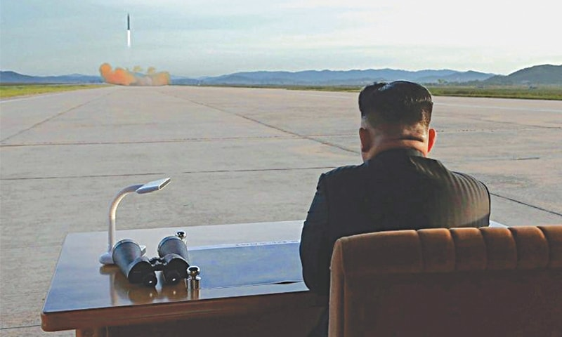 NORTH Korea's leader Kim Jong-un has declared an end to missile launches and rocket tests, claiming that Pyongyang would now concentrate on growing its struggling economy.—AFP