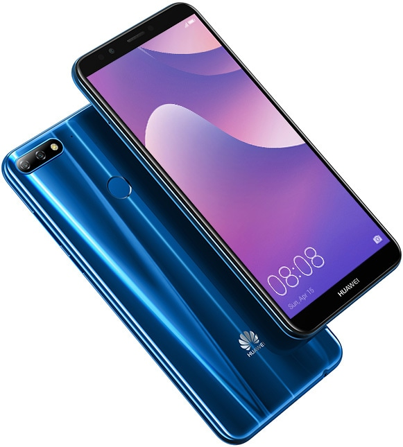 The electric blue Huawei Y7 looks impressive, no doubt.